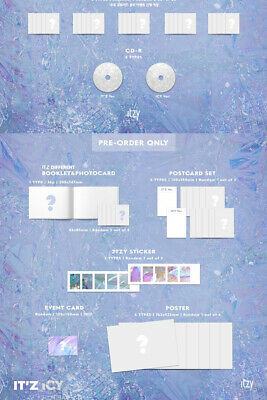 ITZY IT'Z ICY Album 2 Ver SET 2CD+POSTER+2 P.Book+4 Card+2 Pre-Order+GIFT SEALED 6
