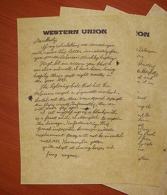 Ritorno Al Futuro 3 - Lettera Di Doc Dal West Nel 1885 A Marty Nel 1955, Replica 4