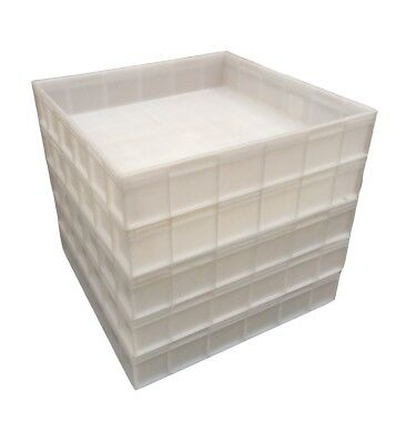 Square Plastic Stacking Food Grade Pizza Dough Bakery Trays -Commercial Quality! 2
