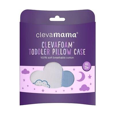 Clevamama Replacement Toddler Pillow Case Cover (Blue) To Fit 55x35cm Approx 5