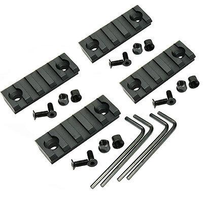 1~4PCS FOR Keymod 5 Slot Picatinny/Weaver Rail Handguard Section Aluminum 2 inch 2