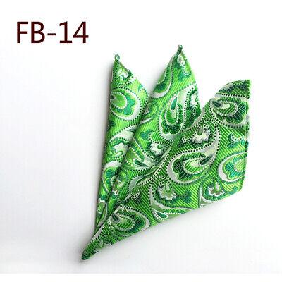 Wedding Mens Paisley Classic Silk Handkerchief Jacquard Woven Suit Pocket Square 12