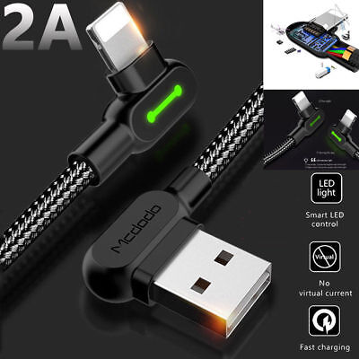 Mcdodo L Shape Fast Charging Lightning Charger  Reversible Usb Unbreakable Cable 12