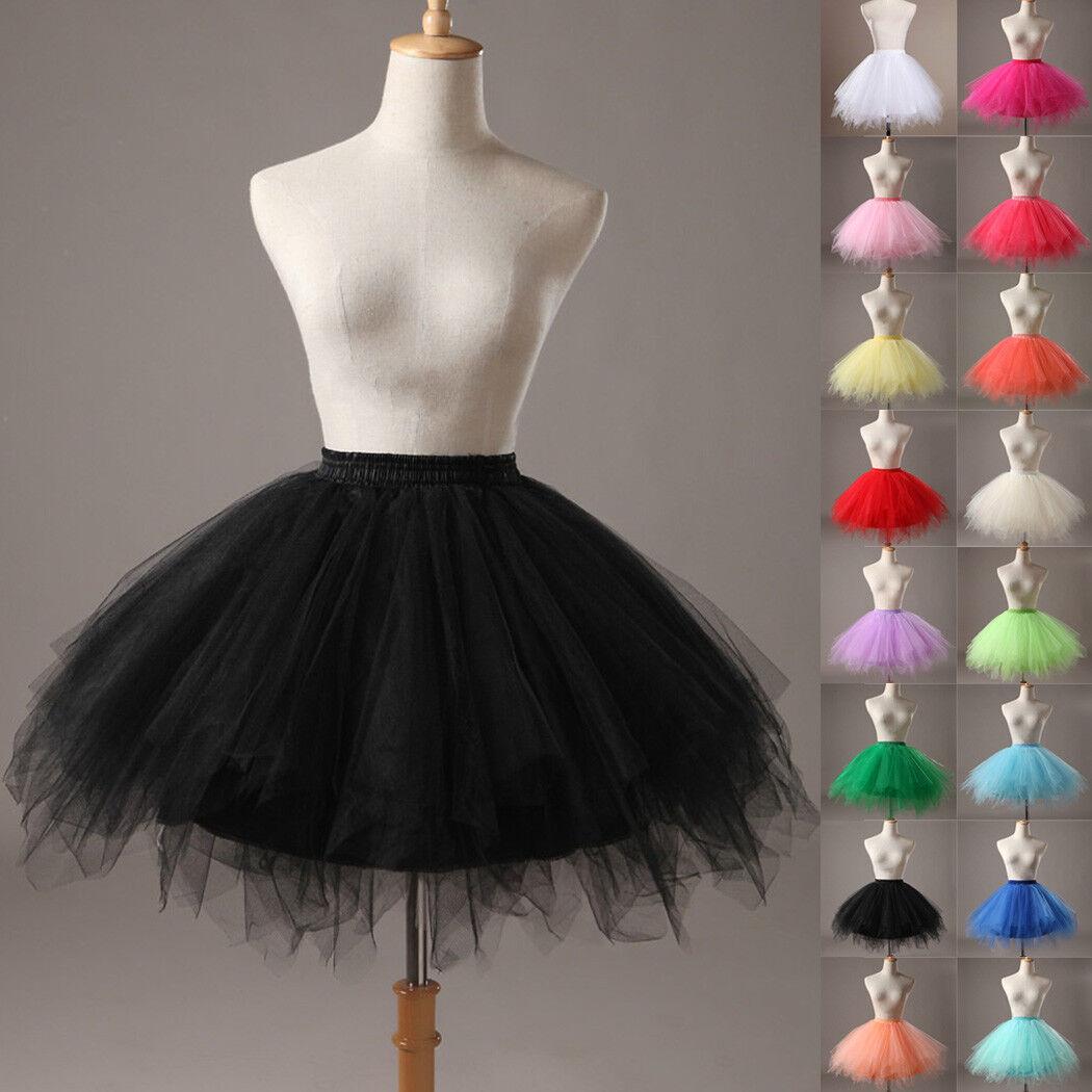UK Women Adult Lady Tutu Tulle Skirt Fancy Skirt Dress Up Party Dancing Dress 3