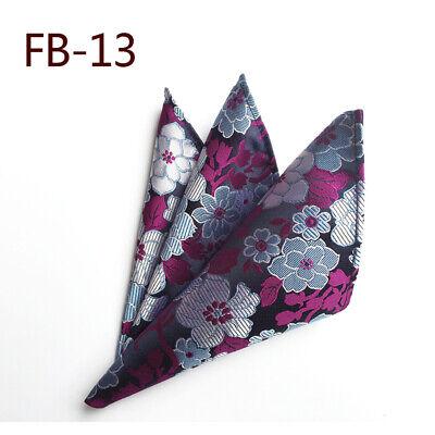 Wedding Mens Paisley Classic Silk Handkerchief Jacquard Woven Suit Pocket Square 3