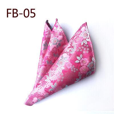 Wedding Mens Paisley Classic Silk Handkerchief Jacquard Woven Suit Pocket Square 5