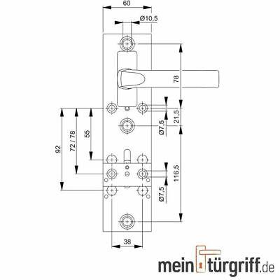 Hoppe Profi Bohrlehre Bohrschablone Universalbohrlehre+Zubehör f.Schutzbeschläge