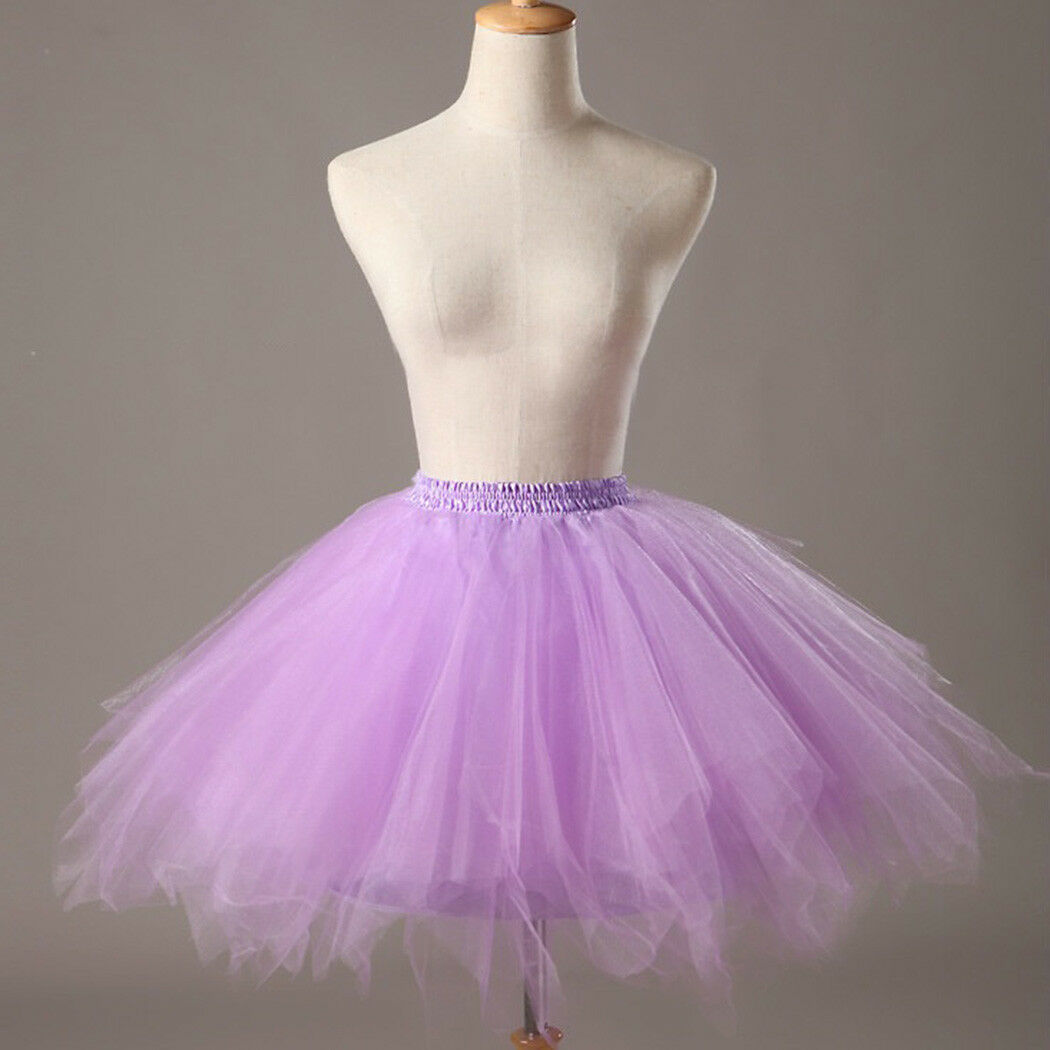 UK Women Adult Lady Tutu Tulle Skirt Fancy Skirt Dress Up Party Dancing Dress 8