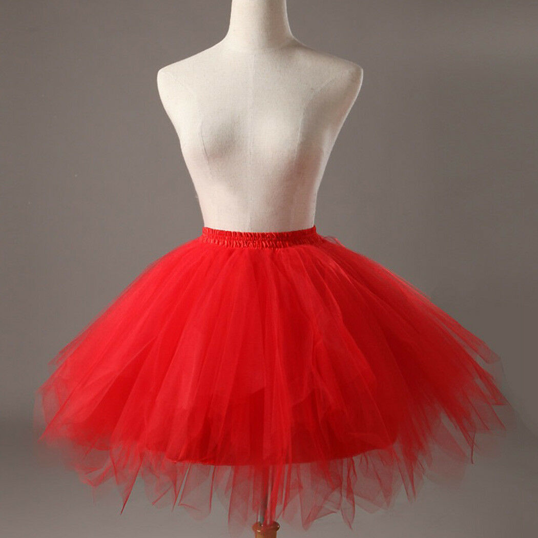 UK Women Adult Lady Tutu Tulle Skirt Fancy Skirt Dress Up Party Dancing Dress 7