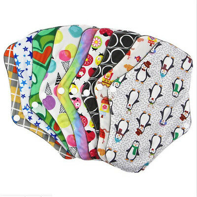 1-5x Women Menstrual Pads Reusable Panty Liners Sanitary Bamboo Washable Cloth D 5