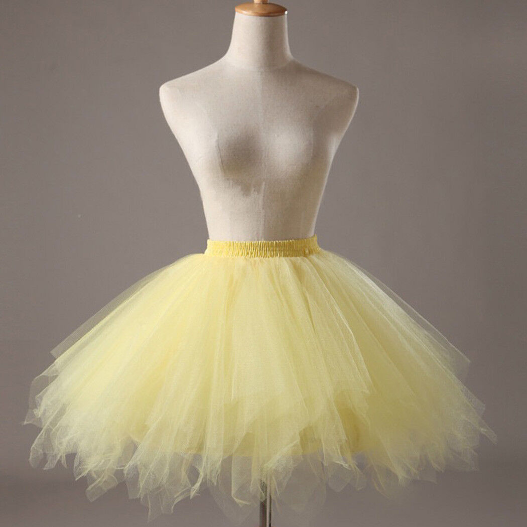 UK Women Adult Lady Tutu Tulle Skirt Fancy Skirt Dress Up Party Dancing Dress 6