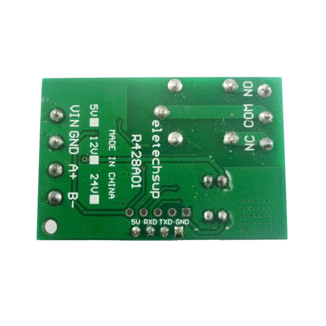 12VDC RS485 TTL RS232 Serial Port Relay UART Modbus Rtu