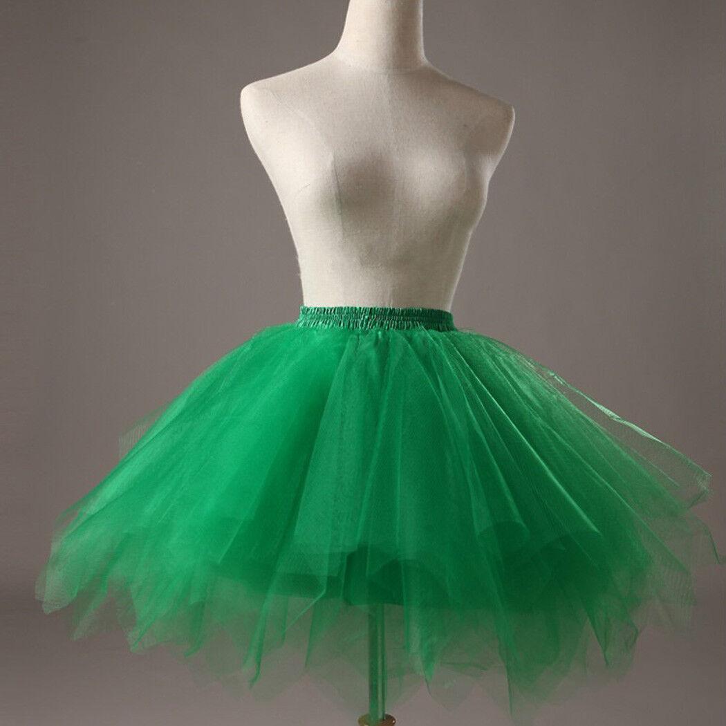 UK Women Adult Lady Tutu Tulle Skirt Fancy Skirt Dress Up Party Dancing Dress 9
