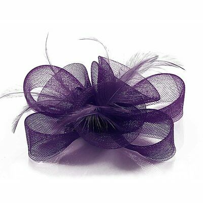 Ivory Black Purple Nude Fascinator Hair Accessories Wedding Ascot Prom Party New 8