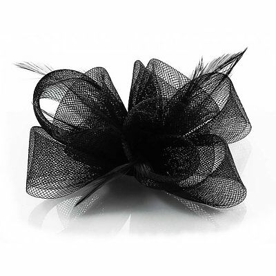 Ivory Black Purple Nude Fascinator Hair Accessories Wedding Ascot Prom Party New 7