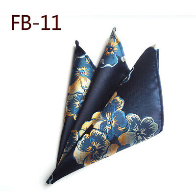 Wedding Mens Paisley Classic Silk Handkerchief Jacquard Woven Suit Pocket Square 10