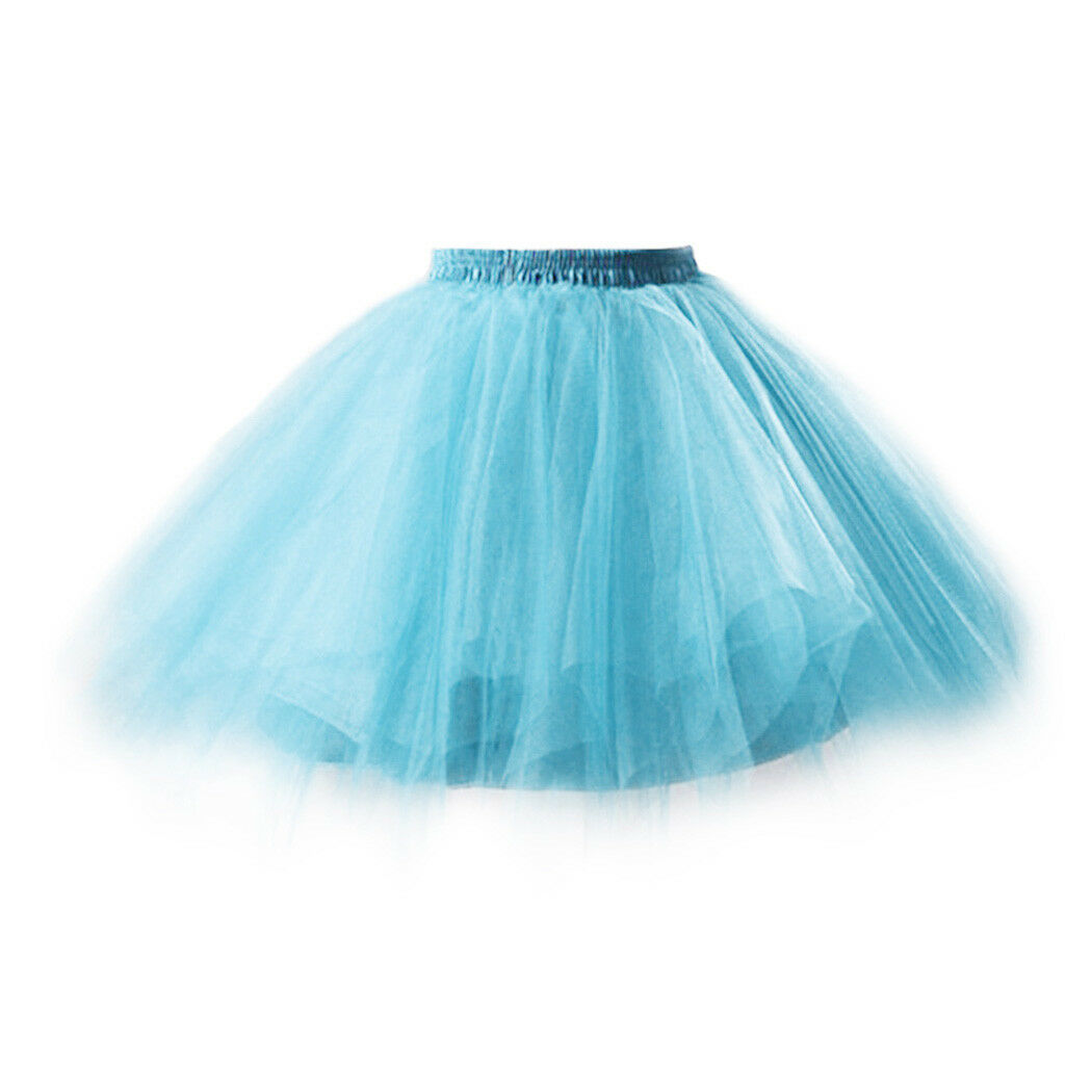 UK Women Adult Lady Tutu Tulle Skirt Fancy Skirt Dress Up Party Dancing Dress 12