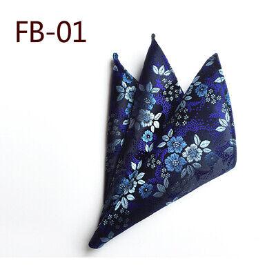 Wedding Mens Paisley Classic Silk Handkerchief Jacquard Woven Suit Pocket Square 2