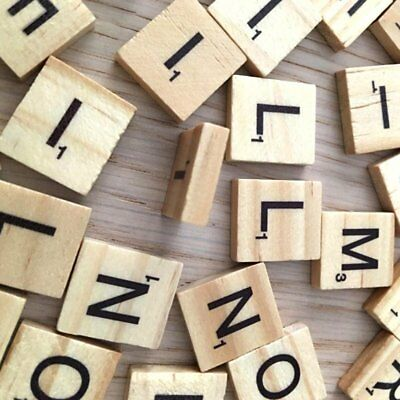 200pcs Wooden Letters Alphabet Scrabble Tiles Letters & Numbers For Game &Crafts 2