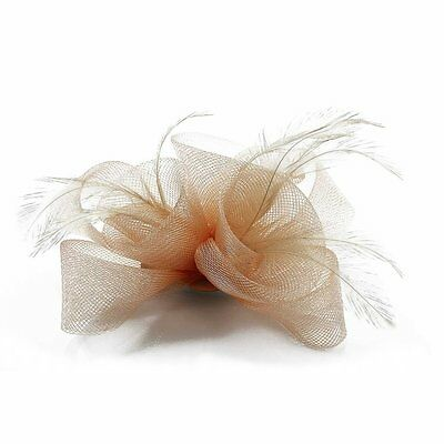 Ivory Black Purple Nude Fascinator Hair Accessories Wedding Ascot Prom Party New 3