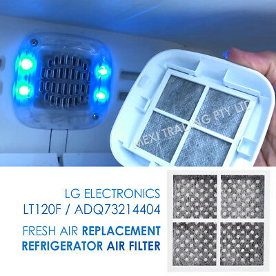 Pack of 4 x LG Fridge Air Filter Fits LG Pure N Fresh GS-D665BSL GS-D665PL