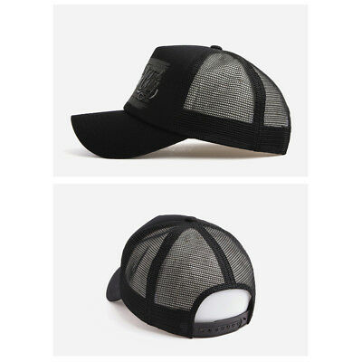 XL~2XL 60~63Cm Unisex Mens Mesh NYC New York Baseball Cap Strapback Hats Black