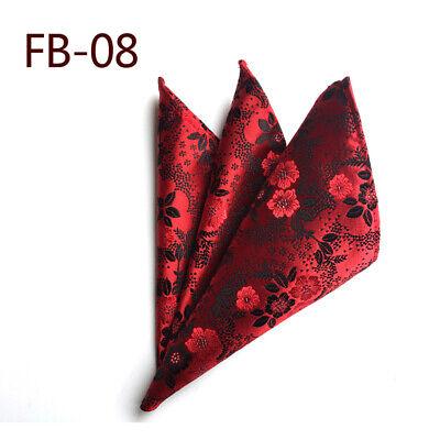 Wedding Mens Paisley Classic Silk Handkerchief Jacquard Woven Suit Pocket Square 8