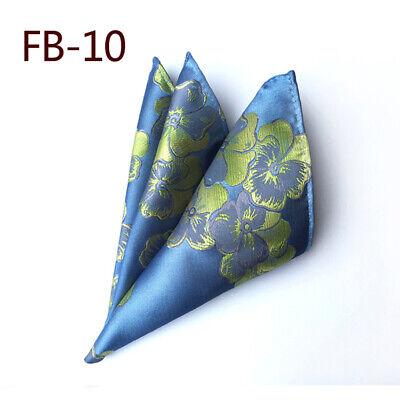 Wedding Mens Paisley Classic Silk Handkerchief Jacquard Woven Suit Pocket Square 11
