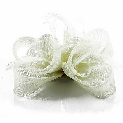 Ivory Black Purple Nude Fascinator Hair Accessories Wedding Ascot Prom Party New 6