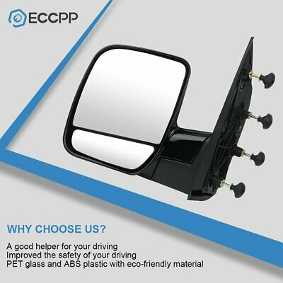 FO1320338 New Mirror for E150 Van E250 E350 E450 Left Hand Side Driver LH Ford