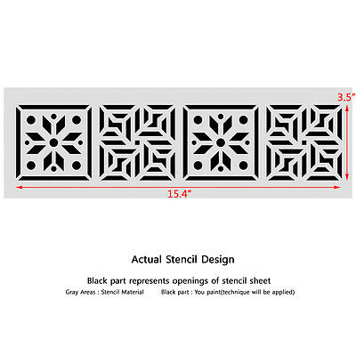Wall Stencils Border Stencil Pattern 088 Reusable Template