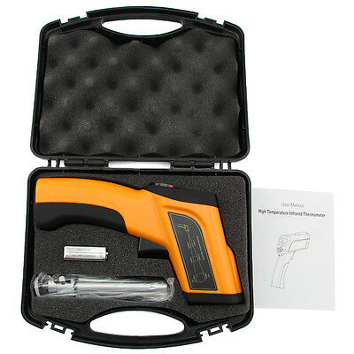 Non-Contact LCD High Temperature Infrared Laser Thermometer Gun Pyrometer 1600℃