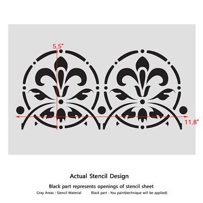 WALL STENCILS BORDER Stencil Pattern 088 Reusable Template for DIY wall  decor