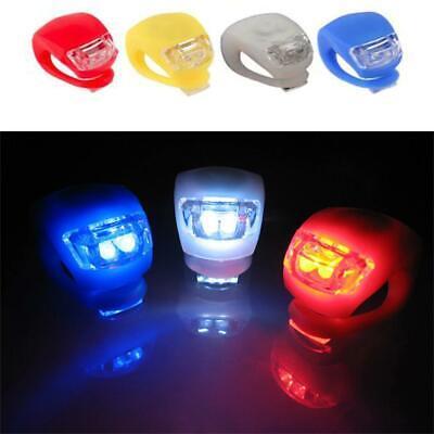 2-10x Fahrradlampe Fahrradlicht LED Rücklicht Silikon Vorne/&Hinten Beleuchtung//