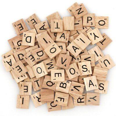 200pcs Wooden Letters Alphabet Scrabble Tiles Black Letters & Numbers For Crafts 7