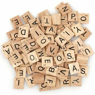 500pcs Wooden Letters Alphabet Scrabble Tiles Letters & Numbers For Game &Crafts 8