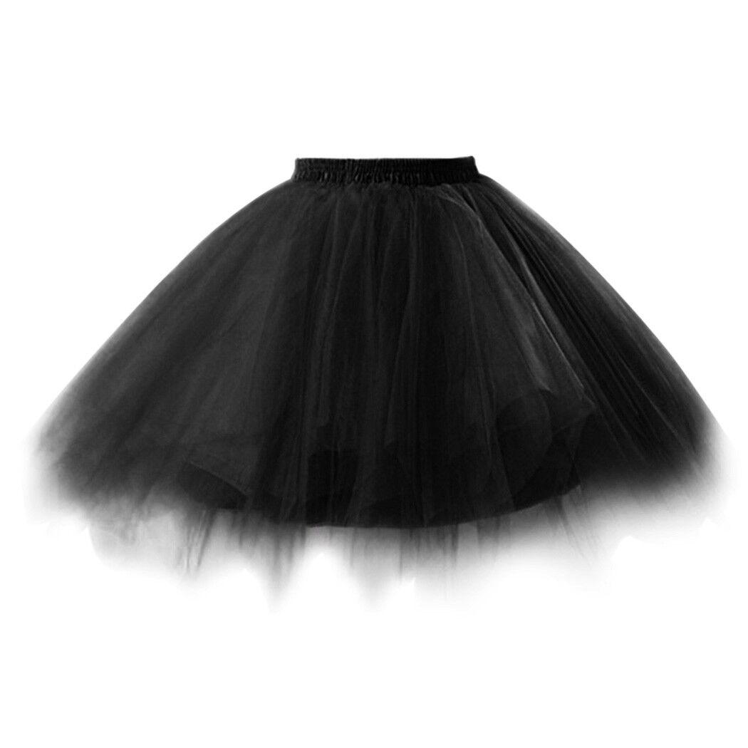 UK Women Adult Lady Tutu Tulle Skirt Fancy Skirt Dress Up Party Dancing Dress 11