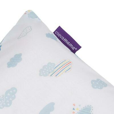 Clevamama Replacement Toddler Pillow Case Cover (Blue) To Fit 55x35cm Approx 3