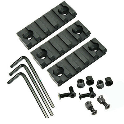 1~4PCS FOR Keymod 5 Slot Picatinny/Weaver Rail Handguard Section Aluminum 2 inch 8