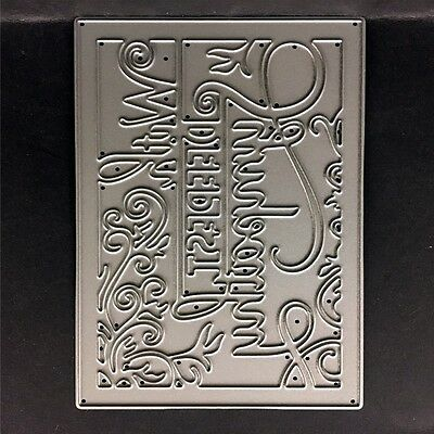 With Deepest Sympathy Metal Cutting Die For DIY Scrapbooking Album Paper CardTDO