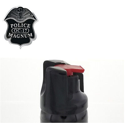 3 PACK Police Magnum Pepper Spray 2 oz ounce Safety Lock Self Defense Security 8