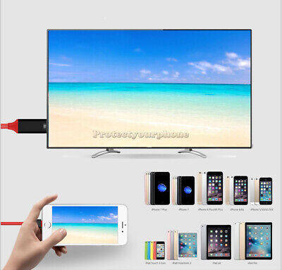 Lightning To HDMI TV Cable Adapter For iPad iPhone 11 Pro Max XS XR X 8 7 6 Plus 4