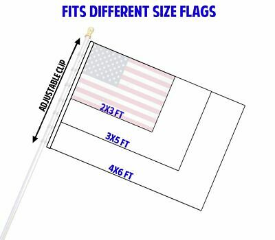 Betsy Ross 3 x 5 FT Flag Set w/ 6-Ft Spinning Flag Pole + Bracket (Tangle Free) 8