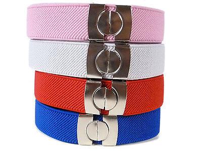 Kids Belts/Childrens Belts. Boys & Girls adjustable Elasticated Belts 1-11 Years 4