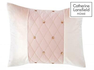 Catherine Lansfield Sequin Cluster Blush Luxury Duvet Cover Set or Accessories 8