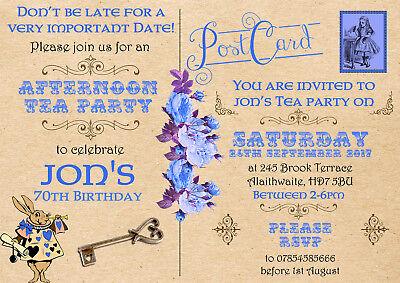 10 Afternoon Tea Vintage Wonderland Alice Personalised