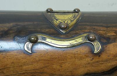 "19th C. ROSEWOOD ""ALMS"" COLLECTION BOX, BRASS TRIM & ORIGINAL KEY, c.1860-80 4"