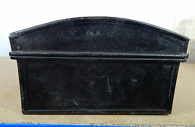 Vintage Tin Dome topper small storage chest Stationary etc 33cm x22cm hasp catch 5