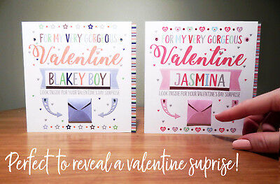 Special Valentine's Day surprise reveal card Personalised Valentine cards 3