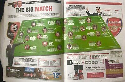 Rennes (Stade Rennais) V Arsenal 7:3/19. Europa League Programme & Sport Journal 7